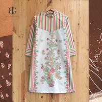 Dress Tunik Batik Bunga Atasan Wanita