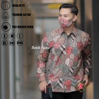 Batik Aluna PCW031-Kemeja Batik Lengan Panjang PremiumReguler FIT