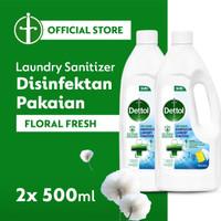 Dettol Disinfectant Laundry Sanitizer Floral Fresh 500mlx2