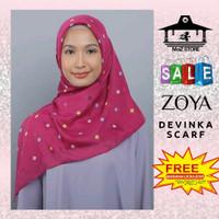 Kerudung Hijab Jilbab Segi Empat Motif Zoya Devinka Scarf segiempat 4