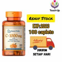 PURITAN PRIDE VITAMIN C 1000 mg BIOFLAVONOIDS ROSE HIP ISI 100 CAPLETS