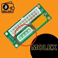 ADD2PSU - Komponen Mining Penghubung 2 PSU - MOLEX