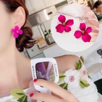 Anting Anting Bunga Mawar Perhiasan Wanita