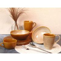 Piring Keramik Set Full Brown by Carramica
