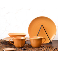 Piring Keramik Mustard Set by Carramica