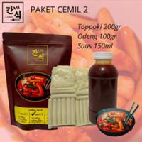 Paket Cemil 2 Topoki / Toppoki / Tteokbokki / Topokki odeng & Saos