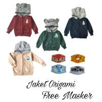 Jaket anak Sweater Hoodie anak Bayi Laki-laki jaket lucu merk ORIGAMI