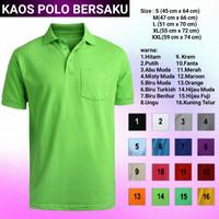 Kaos Polo shirt berkantong / bersaku , bahan Lacoste Pique (PE)