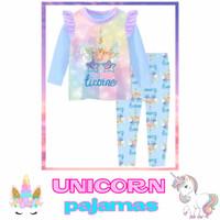 Baju tidur pajamas Anak UNICORN piyama kaos panjang remaja cewek