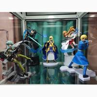 Figure set SAO Sword Art Online Kirito, Asuna, Alice, Sinon, Eugeo