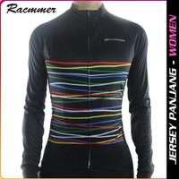 UCI Simple Rainbow Women Cycling Jersey Baju Gowes Cewek Racmmer 08 A - L