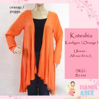 Kateshia – Kardigan lengan panjang drape fashion katun tipis