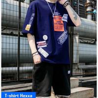 Kaos T shirt Distro Pria Oblong Cowok Lengan Pendek Hexx Fashion Motif