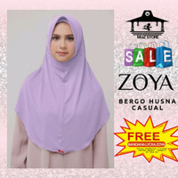 Bergo Husna Casual Zoya / Jilbab Instan Hijab Instant Kerudung Promo