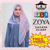 Kerudung Hijab Jilbab Segi Empat Motif Zoya Zavaya Scarf Segiempat 4