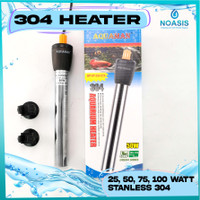 HEATER / PENGHANGAT AIR AQUARIUM STAINLESS 25 , 50 , 75 ,100 WATT