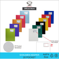 EAGLE Document Keeper Clear Holder Display Book A4 / F4 20 Pocket