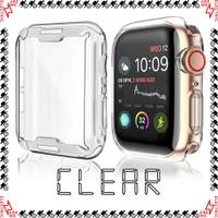 Case Apple Watch Series 1 - 6 Series SE 40mm 44mm Casing Silikon Cover - Transparan, 38mm