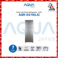 Aqua Japan Kulkas 2 Pintu AQR-D270 (LS) 220 Liter