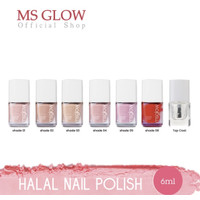NAIL POLISH / KUTEK MS GLOW /HALAL BISA DIBUAT SHOLAT