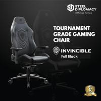 Kursi gaming steel diplomacy Invincible Full Black