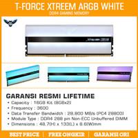 Ram Team T-Force Xtreem ARGB White 16GB Kit 3600 (2x8GB) DDR4 3600MHz