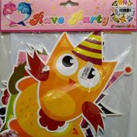 Banner Ultah Motif 'owl'
