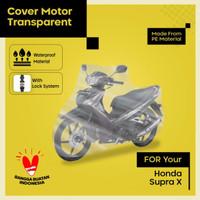 cover motor supra x transparan berkualitas