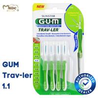 GUM Interdental Brush 1.1 mm (Sikat untuk Sela Gigi / Behel)