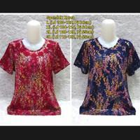 Ready Blouse Import Orang Tua/Baju Atasan Ibu Ibu S1213 - Biru B