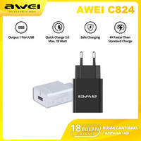 KEPALA CHARGER TYPE A PD AWEI QUICK CHARGER 18 WATT IPHONE 12
