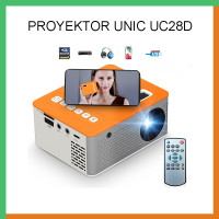 Mini Proyektor Projector UNIC UC28D Mirroring Screen Android & Iphone