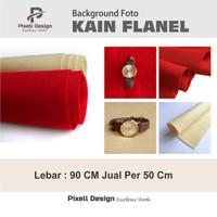 Kain Background Foto Warna Polos Merah | Krem 90 Cm