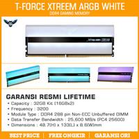 Ram Team T-Force Xtreem ARGB White 32GB Kit 3200 (2x16GB) DDR4 3200MHz