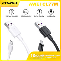 AWEI CL77M Kabel Data Charger Type Micro USB Fast Charging Output 5A