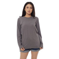 Kaos Polos Cotton Combed 30s Wanita Lengan Panjang jumbo XXl-4XL