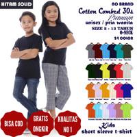 Kaos Baju Polos Anak Perempuan Cotton Combed 30s Premium Lengan Pendek