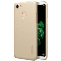 OPPO F5 NILLKIN FROSTED SHIELD ORIGINAL HARD SLIM CASE COVER PC CASING - GOLD
