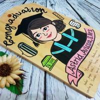 Talenan lukis 1 wajah kado gift graduation wisuda custom handmade unik