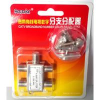 Spliter 4 WAY Kabel Antena TV/ Splitter Pembagi Sinyal 4 Cabang Output