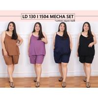 Setelan Piyama Jumbo 1504 Mecha Set Bigsize Wanita Baju Tidur Big Size