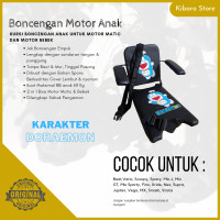 Kursi Bangku Jok Boncengan Bonceng Motor Anak Karak Doraemon + Armrest