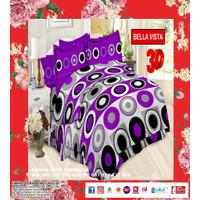 BED COVER BONITA PLAT B4 180 X 200 MINIMALIS WARNA UNGU & PINK