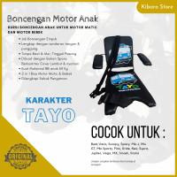 Kursi Bangku Jok Boncengan Bonceng Motor Anak Karakater Tayo + Armrest