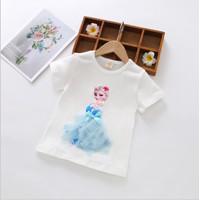 Kaos Princess lengan pendek import/baju Frozen/baju princess import 3D - ELSA, 100