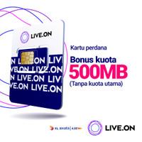Kartu Perdana Live.On XL Tanpa Kuota + 500MB Bonus