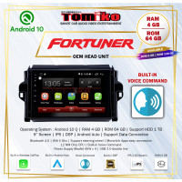 Head Unit Android Tomiko New Fortuner Ram 4+64