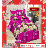 BED COVER BONITA PLAT B4 180 X 200 BUNGA WARNA PINK