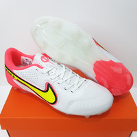 Sepatu Bola - Soccer Nike Tiempo Legend 9 White Volt Pink - FG