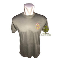 Kaos Oblong Pol PP Hijau Logo Kecil - Baju Dalam Pol PP